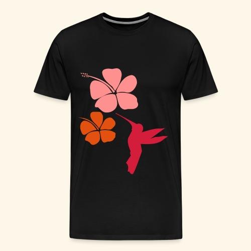 COLIBRI HIBISCUS hummingbird - T-shirt Premium Homme