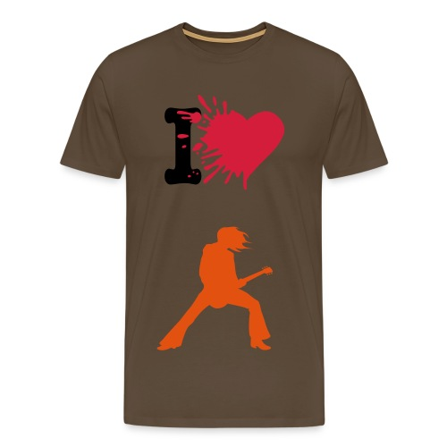 I love guitarmusic - Mannen Premium T-shirt