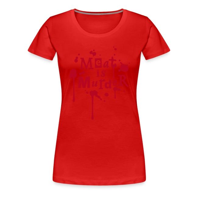 Womens Shirt 'Meat is Murder' W