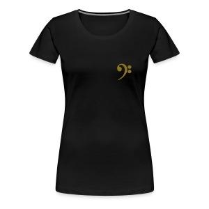 Bassschlüssel (klein, vorne) Frauen Girlieshirt klassisch - Frauen Premium T-Shirt