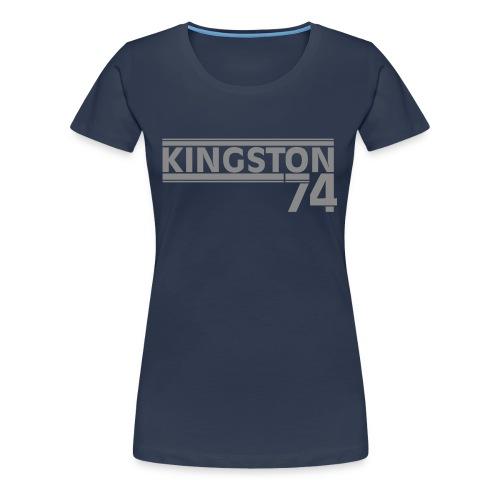 KINGSTON 74 ARGENT - T-shirt Premium Femme