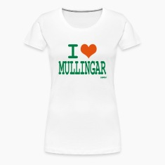 White i love mullingar by wam Women's T-Shirts