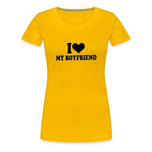 love my boyfriend - Premium T-skjorte for kvinner