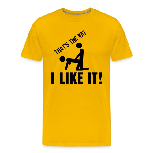 I like it! - Premium T-skjorte for menn