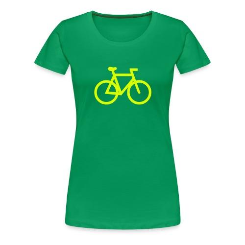 yellow bike - Women's Premium T-Shirt