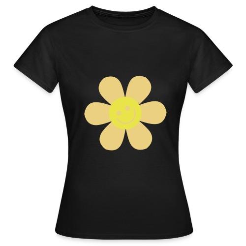 tee-shirt maron fleur - T-shirt Femme