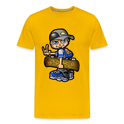 Skater boy and skateboard - Men's Premium T-Shirt