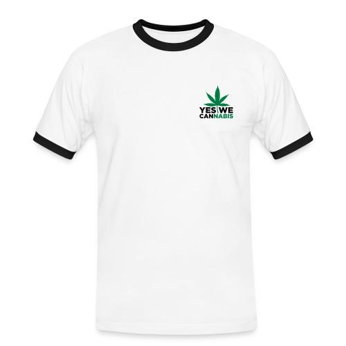 teeshirt canna - T-shirt contrasté Homme