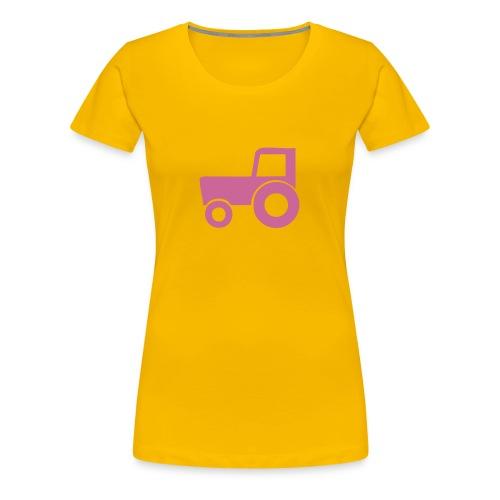 Traktor girlie - Premium T-skjorte for kvinner