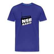T-Shirts ~ Men's Premium T-Shirt ~ NSB Classic on Sky Blue T
