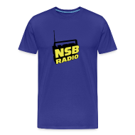 T-Shirts ~ Men's Premium T-Shirt ~ NSB Yellow and Black on Royal Blue T