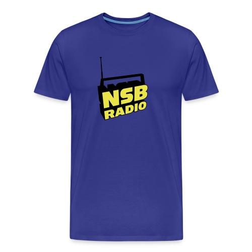 NSB Yellow and Black on Royal Blue T  - Men's Premium T-Shirt