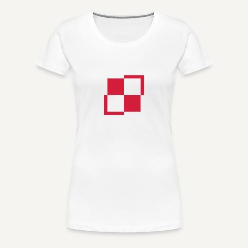 Szachownica - znak lotnictwa polskiego - Koszulka damska Premium
