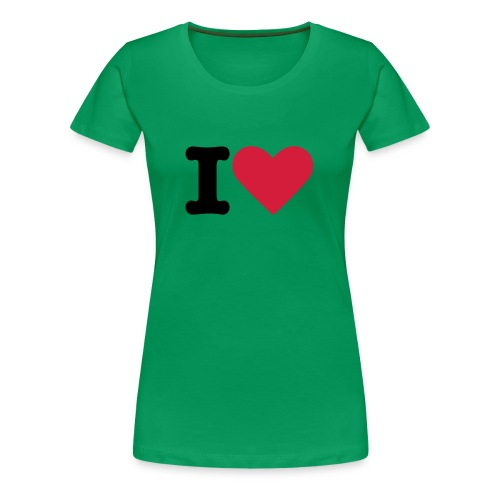 Grass Green I Love - Women's Premium T-Shirt