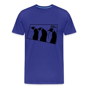 Basisshirt hellblau mit Pinguinen - Männer Premium T-Shirt