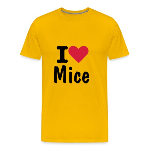 I Love Mice T - Men's Premium T-Shirt
