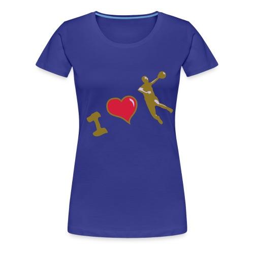 handball classique femme motif or metal. HAND  - T-shirt Premium Femme