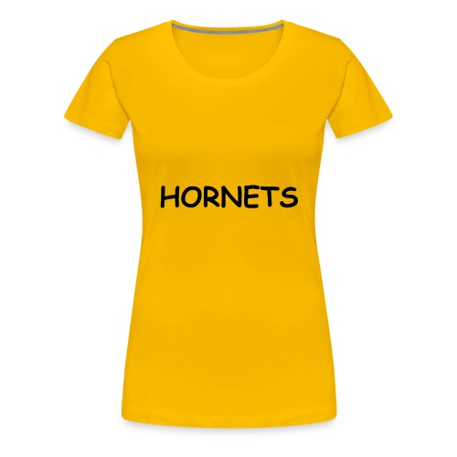 Hornets Basic Girlie Tee (Gold) - Women's Premium T-Shirt