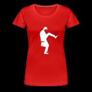 T-Shirts ~ Women's Premium T-Shirt ~ John Cleese Red Silly Walk Women's Shirt