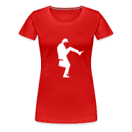 T-Shirts ~ Women's Premium T-Shirt ~ John Cleese Red Silly Walk Women's Shirt