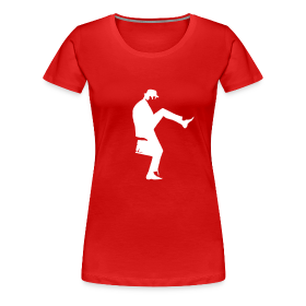 John Cleese Red Silly Walk Women's Shirt ~ 1854