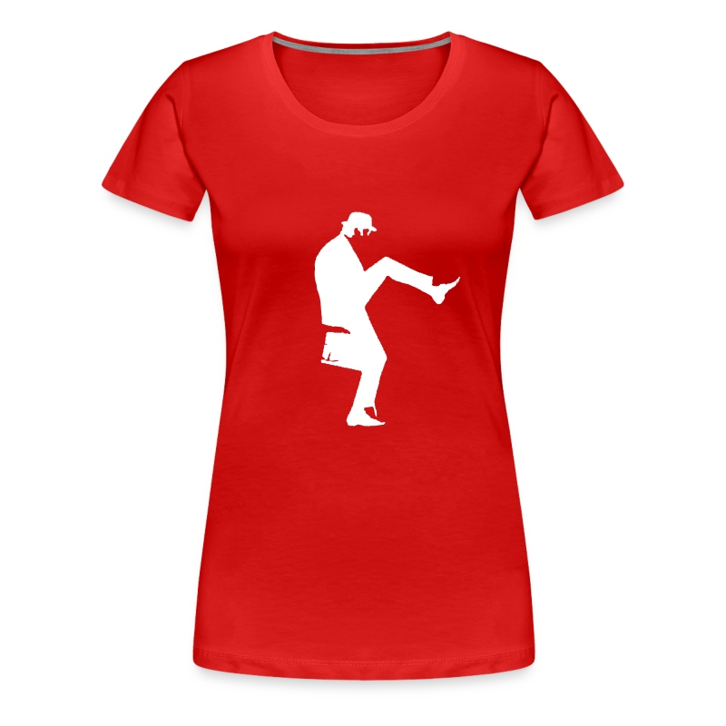 John Cleese Red Silly Walk Women's Shirt - Women's Premium T-Shirt