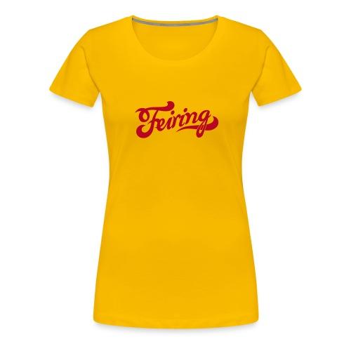 Feiring - et lite støkke Norge - Premium T-skjorte for kvinner