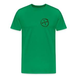 Basis-T-Shirt Geocaching khaki grün Logo klein - Männer Premium T-Shirt