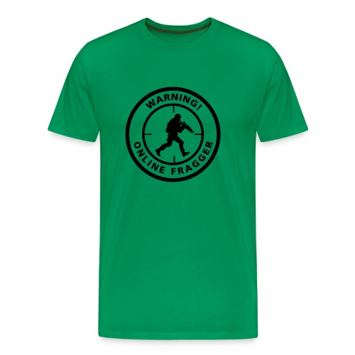 Warning! Online Fragger - Men's Premium T-Shirt
