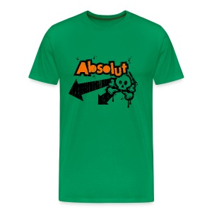 'Absolut' tee (distressed orange/black print) - Men's Premium T-Shirt