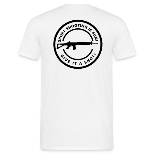 Shooting Fun! (Flex Print Back) - Men's T-Shirt