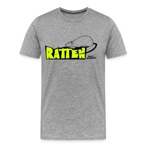 Basisshirt weiß mit Ratte - Männer Premium T-Shirt