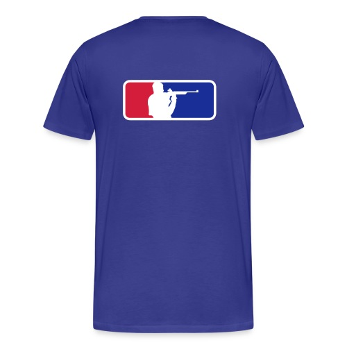 Shooting Sport Color Flex print Back! - Men's Premium T-Shirt