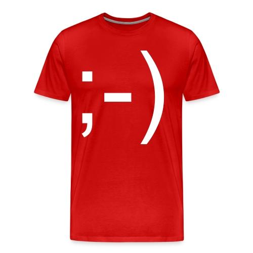 ;) - Maglietta Premium da uomo