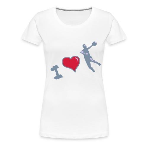 Handball classique femme motif argent HAND  - T-shirt Premium Femme