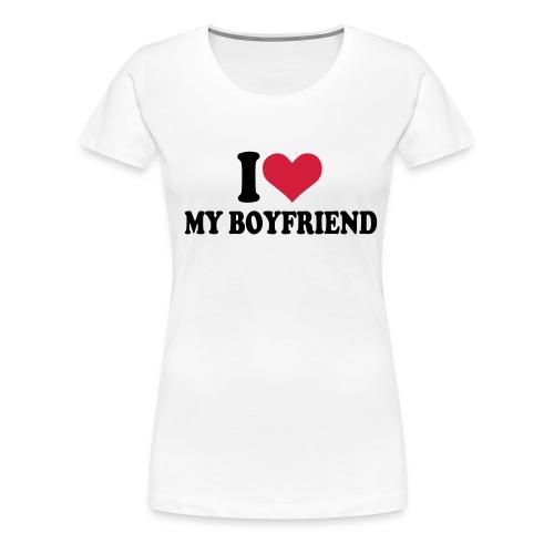 I Love My Boyfriend - Womens Continental - Women's Premium T-Shirt
