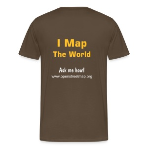 I Map The World! Männer Basis T-Shirt braun - Männer Premium T-Shirt