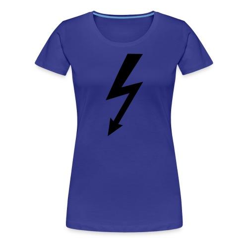 T-shirt maniche corte donna con fulmine - Maglietta Premium da donna