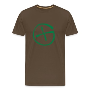 Basis-T-Shirt Geocaching khaki grün Logo gross - Männer Premium T-Shirt