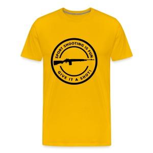 Sport Shooting  is Fun Flex Print M14 - Mannen Premium T-shirt