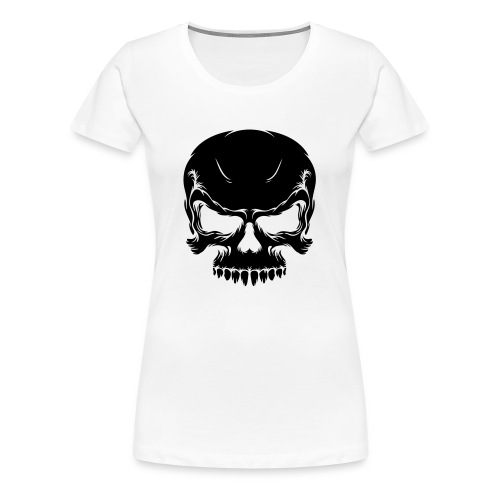 Skull (black) - Women's Premium T-Shirt