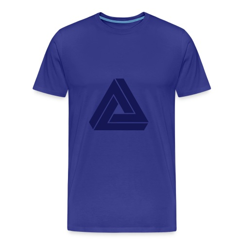 MAD single colour (blue) - Men's Premium T-Shirt