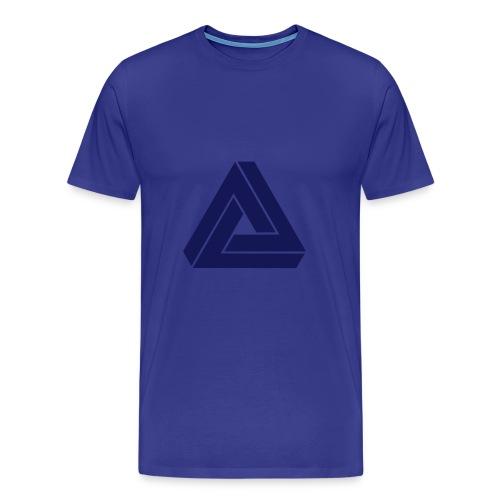 MAD single colour (blue) - Men's Premium T-Shirt