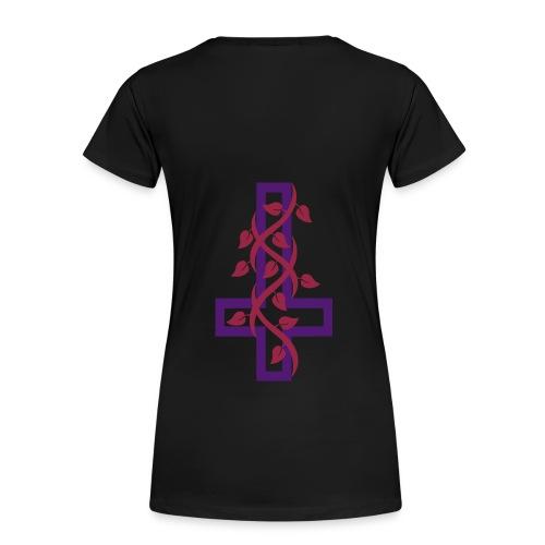 Upside-down cross - Women's Premium T-Shirt