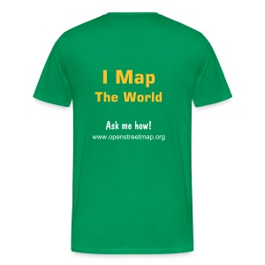 I Map The World! Männer Basis T-Shirt moosgrün - Männer Premium T-Shirt