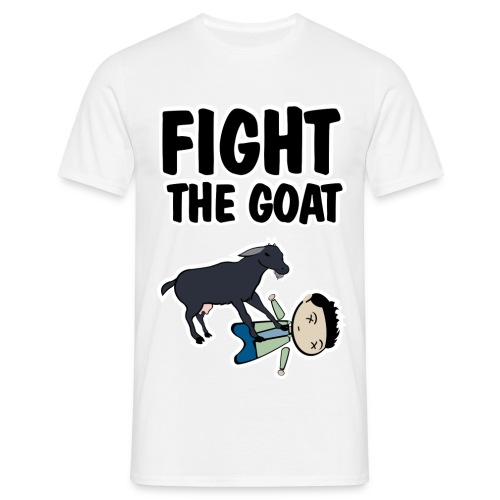 Camiseta How I met your mother, Ted fight the goat - chico manga corta - Camiseta hombre