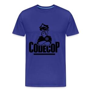 Code Cop, 'Dark Blue Default' - Men's Premium T-Shirt