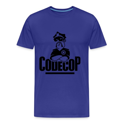 Code Cop, 'Dark Blue Default' - Men's Premium T-Shirt