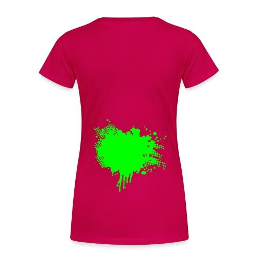Unisex A.T.U Shirt with design on the back - Women's Premium T-Shirt
