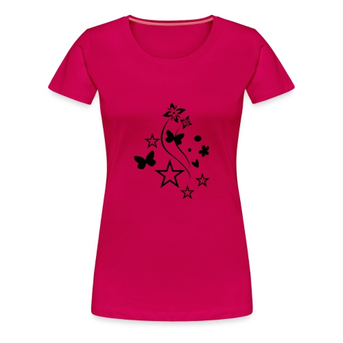 Stars & Butterflies (black) - Women's Premium T-Shirt